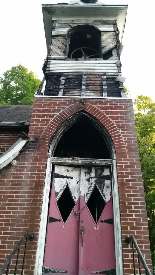 Independent Order of Odd Fellows, burned doors