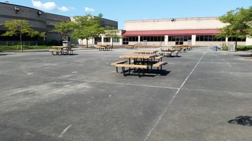 Elkins High School Courtyard benches