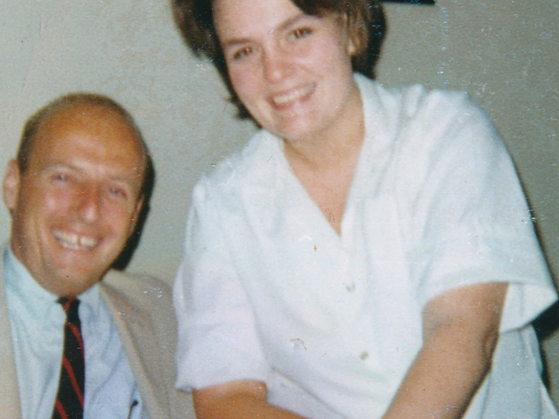 Pete Conrad, Commander of Apollo 12, with Carol Jenzano, daughter of Morehead Planetarium director Tony Jenzano. (1965, Courtesy of Carol Jenzano)