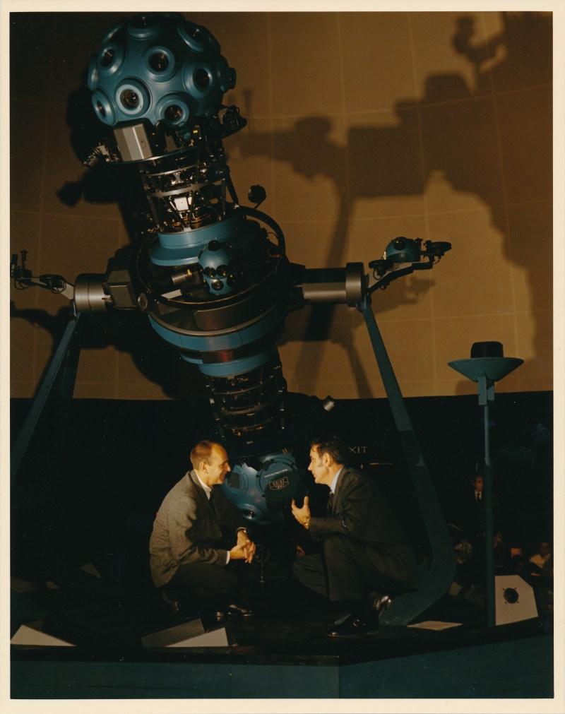 Al Bean with Tony Jenzano at Morehead Planetarium, 1970Feb01, courtesy of Carol Jenzano, copyright 2018